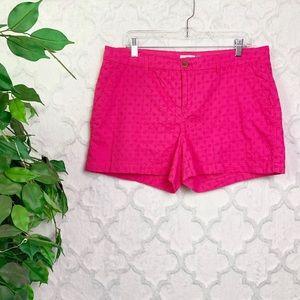 Old Navy Pink Eyelet Chino Shorts